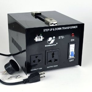 Goldsource� STU-1000 Step Up and Down Voltage Converter Transformer - AC 110/220 V - 1000 Watt with 5 Volt USB output