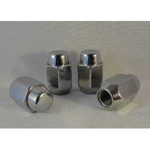 2 Piece Chrome Lug Nuts: Set of 20 Lugs for Most Chevy Vehicles