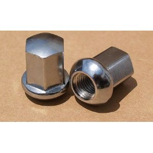 Porsche chrome lug nuts: 14 x 1.5 ball seat - set of 20