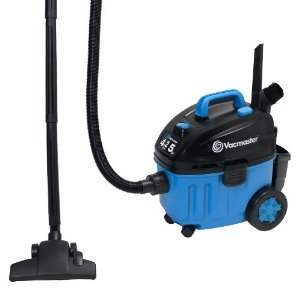 Vacmaster VF408 Wet/Dry Floor Vacuum Powered by 2-Stage Industrial Motor, 4-Gallon, 5 Peak HP