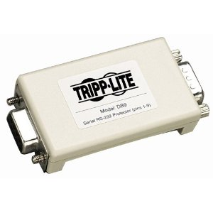 Tripp Lite DB9 Network Dataline Surge Protector/Suppressor RS-232 for M/F 9 Pin Port