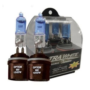 Absolute W880 (880) 1 pair HID Style Xenon High Performance Halogen Light Bulb