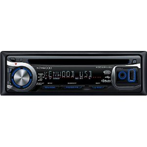 Kenwood KDC-MP442U WMA/MP3 CD Receiver with Satellite/HD Radio/Bluetooth/iPhone Ready Front AUX/USB Input