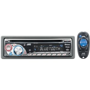 JVC KD-BT11 Single DIN In-Dash CD Receiver with Built-In Bluetooth (Silver)