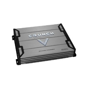 Crunch Ground Pounder GPV1000.4 500 Maxx Watt Power A/B Class Four Channel Amplifier (Silver)