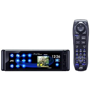 JVC KD-AVX77 El Kameleon DVD/CD/USB Receiver with 5.4-Inch Monitor, Proximity Sensor, Touchscreen Controls, Built-in Bluetooth, iPod/iPhone USB 2.0