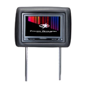 Power Acoustik H-9GRDK (Dark Gray) Single Pre-Loaded Universal Replacement Headrest w/ 9? LCD Monitor