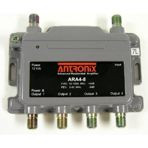 ARA4-8/ACP four output amplifier with power supply