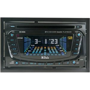 Boss Audio 814CA In-Dash Mp3/CD/Cassette Receiver with Front Panel Aux Input