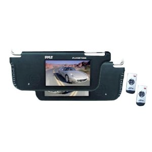 PYLE PLVSR72BK Pair of 7-Inch TFT/LCD Left and Right Sun Visor Monitors (Black)