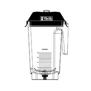 32 Ounce Container for On-Counter Blending Station (04-0436) Category: Blenders