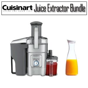 Cuisinart CJE-1000 Juice Extractor With Acrylic 56 Oz Juice Jar With White Lid