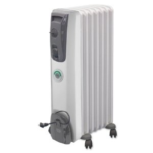 DeLonghi MG7307CM Oil-Filled Portable Radiator with ComforTemp Technology, White