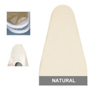 Ironing Board Cover & Pad One-Piece Deluxe (48-49x18) Natural - Household Essentials #7347
