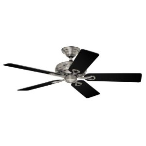 Hunter 20511 Savoy 52-Inch 5-Blade Ceiling Fan, Antique Pewter with Black/Cherry Blades