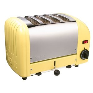 Dualit 4-Slice Toaster, Canary Yellow