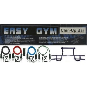 Doorway Chin up Pull up Bar and 4 Premium Exercise Resistance Bands w/ Free Door Anchor and Exercise Manual. Perfect for p90x and other fitness programs