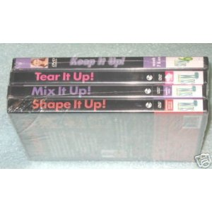 DEBBIE SIEBERS' *SLIM IN 6* 4 DVD SET (Keep It Up! *** Tear It UP! *** Shape It Up! *** Tone It Up!)