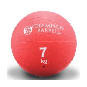 Rubberized Medicine Ball - Red 15.4 (EA)