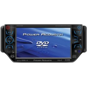 Power Acoustik PTID-5300 5.3-Inch Widescreen Touch-Screen In-Dash Monitor with DVD TV Tuner and AM/FM