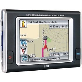 Boyo VTN3501 3.5-Inch GPS Navigation with MP3 Player