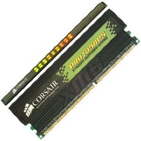 Corsair XMS4400 CMX512-4000PRO DDR400 PC3200 512MB 2-2-2-5 Gaming Memory (2x 512mb)