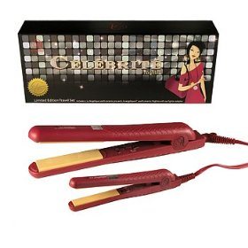 LE ANGELIQUE Nightro Hair Straightener Set (Magenta)