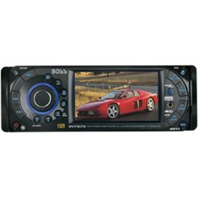 Boss Audio BV7970 In-Dash 3.6-Inch Widescreen Monitor with AM/FM DVD/MP3/CD Receiver