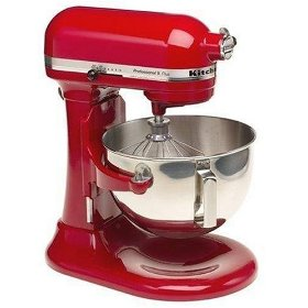 Remanufactured KitchenAid RKV25G0XER Professional 5 Plus 5-Quart Stand Mixer, Empire Red