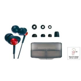Jvc haf66a blue headphone air cushion carrying case