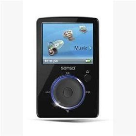 Sandisk 4GB Sansa Fuze MP3 Player Black Bundle w/ 2GB MicroSD Card & BlueProton USB 2.0 Reader