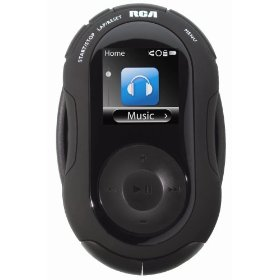 RCA Jet 4 GB Sports MP3 Player with Video, Music, FM Radio, and Sports Features (Black)
