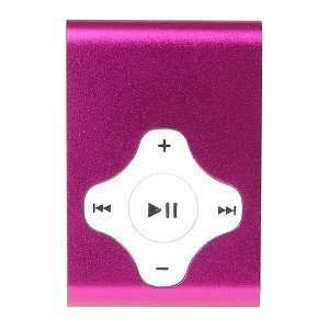 2GB USB Clip Style MP3 Player (Pink)