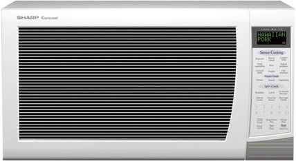 Sharp r530ewt white microwave 2.0cf 1200w full size