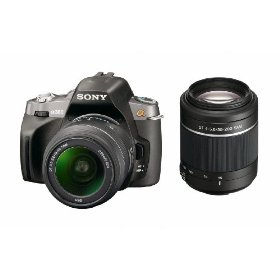 Sony Alpha A380Y 14.2 MP Digital SLR Camera with  Super SteadyShot INSIDE Image Stabilization and 18-55mm and 55-200mm Lenses