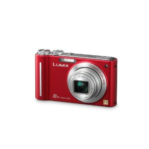 Panasonic Lumix DMC-ZR1 12.1MP Digital Camera with 8x POWER Optical Image Stabilized Zoom and 2.7 inch LCD (Red)