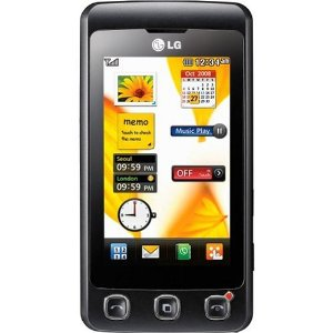 LG KP500 Cookie Unlocked Phone with 3.2 MP Camera (Black)