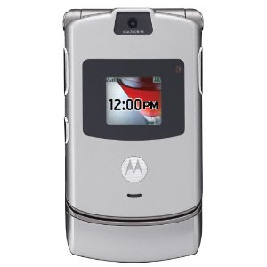 Motorola RAZR V3 Unlocked Phone with Camera, and Video Player--U.S. Version with Warranty (Silver)