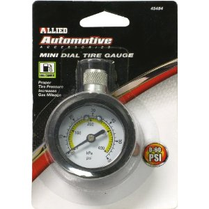Allied International 45484 Mini Dial Tire Guage