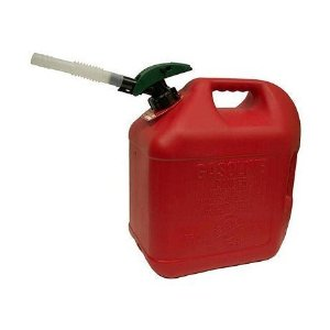 Blitz 81033 5 Gal Enviro-Flo Plus Gas Can - W/Flex Funnel & Id Tag
