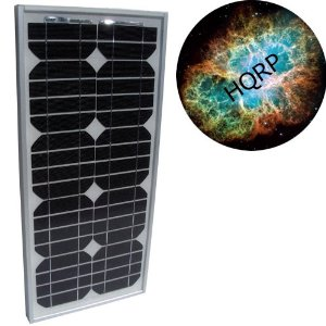 HQRP 20 Watt Solar Panel 20W Power 12V Monocrystalline PV Module plus HQRP Mousepad