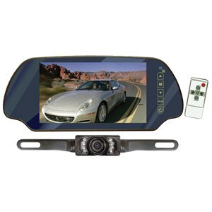 PYLE PLCM7200 7-Inch TFT Mirror Monitor/Back-Up Night Vision Camera Kit