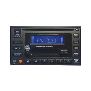 New! CAR 2 DIN CD CASSETTE AM FM RADIO ANTI SHOCK