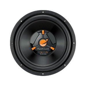 Planet Audio TQ12 12-Inch Poly Injection Cone 4-OHM Single Voice Coil SVC Subwoofer (Black)