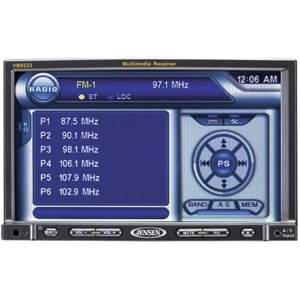 Jensen VM9223  7-inch Touch Screen Double Din MultiMedia Receiver