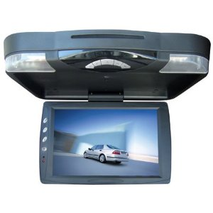 TKO BH-FDVD 13.3 FLIP DOWN CAR MONITOR DVD PLAYER FM IR