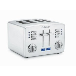 Cuisinart CPT-190 Brushed Stainless-Steel 4-Slice Toaster with Countdown Timer