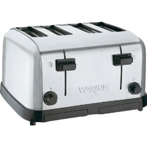 Waring Commercial Toaster Medium Duty Brushed Chrome