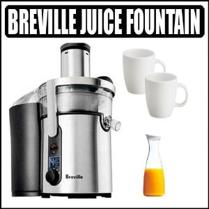 Breville BJE510XL Ikon Five Speed Juice Fountain With Juice Jar and Cups