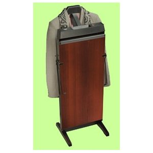 Corby 7700 Pants Press Valet Walnut Wood Effect with Black Trim
